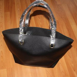 Ralph Lauren Faux Leather Tote Shoulder Open Purse